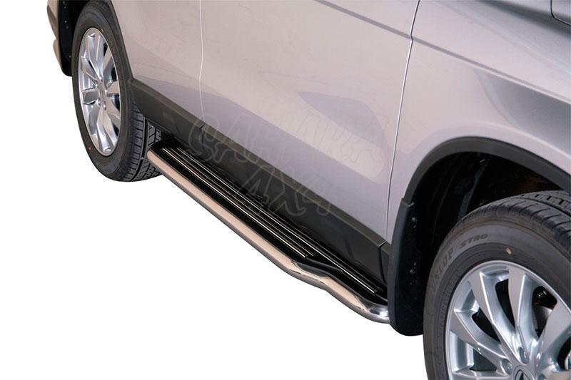 Estribos en plataforma con tubo inox Ø50mm para Honda CR-V 2010-2012 -