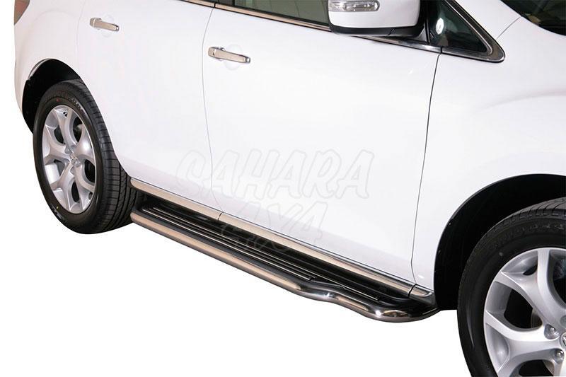 Estribos en plataforma con tubo inox Ø50mm para Mazda CX-7 2010- -