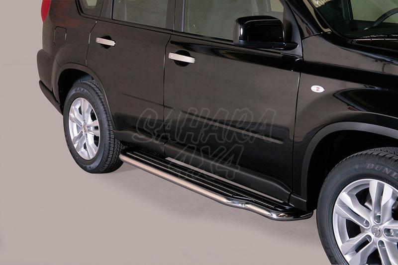 Estribos en plataforma con tubo inox Ø50mm para Nissan X-Trail 2010-2014 -
