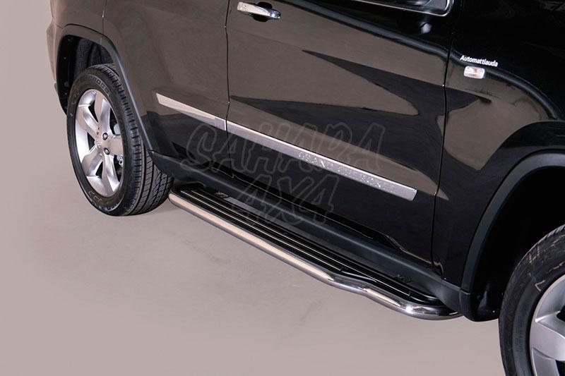 Estribos en plataforma con tubo inox Ø50mm para Jeep Grand Cherokee 2010-2013 -
