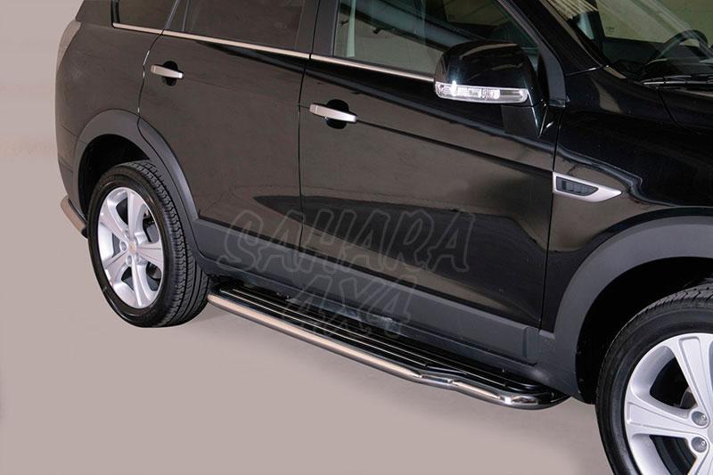 Estribos en plataforma con tubo inox Ø50mm para Chevrolet Captiva 2011- -
