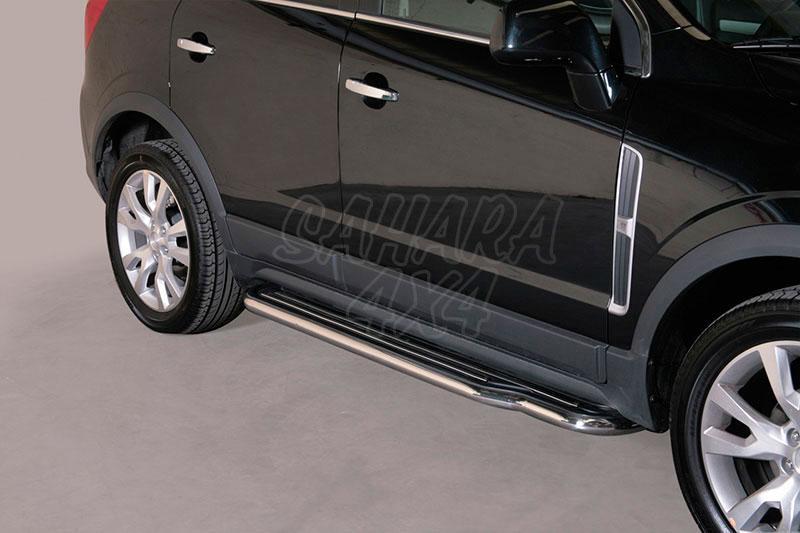 Estribos en plataforma con tubo inox Ø50mm para Opel Antara 2011- -