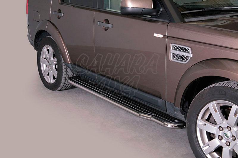 Estribos en plataforma con tubo inox Ø50mm para Land Rover Discovery IV -