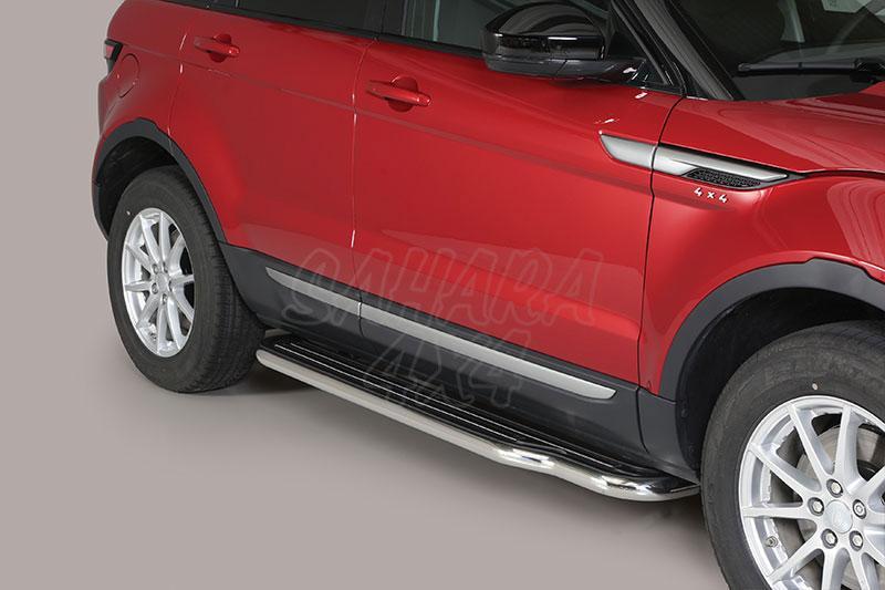Estribos en plataforma con tubo inox Ø50mm para Range Rover Evoque 2011- -