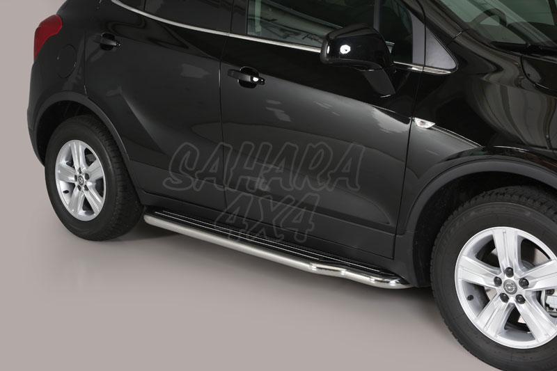Estribos en plataforma con tubo inox Ø50mm para Opel Mokka 2012- -