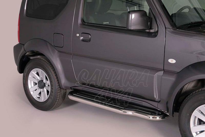 Estribos en plataforma con tubo inox Ø50mm para Suzuki Jimny 2012- -
