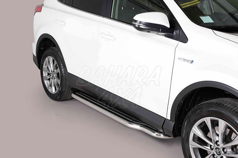 Estribos en plataforma con tubo inox Ø50mm para Toyota Rav4 2013- -