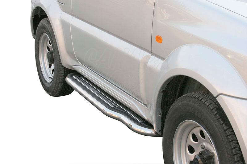 Estribos en plataforma con tubo inox Ø50mm para Suzuki Jimny 1998-2012 -