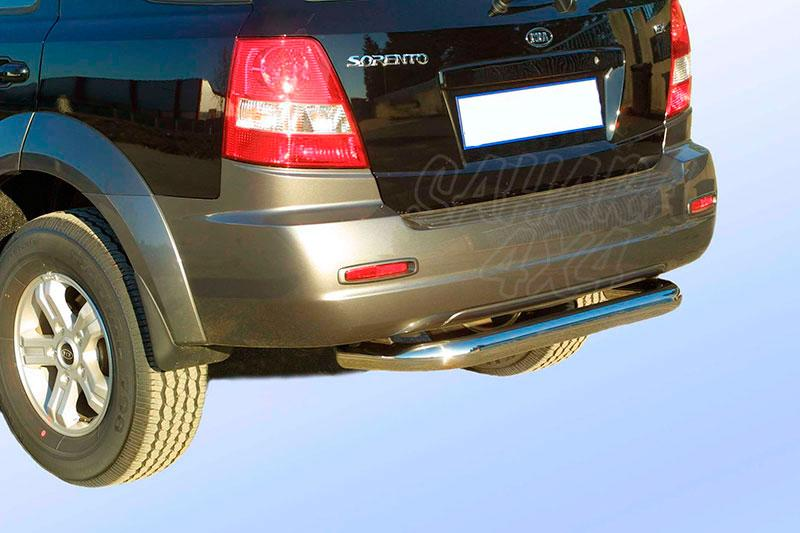 Protector de parachoques trasero en tubo inox Ø76mm para Kia Sorento 2002-2006 -