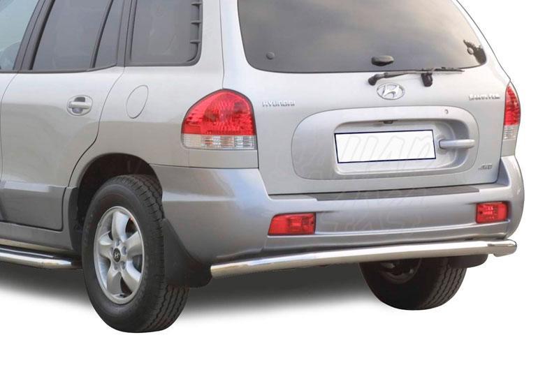 Protector de paragolpes trasero en tubo inox Ø63mm para Hyundai Santa Fe 2005-2006 -