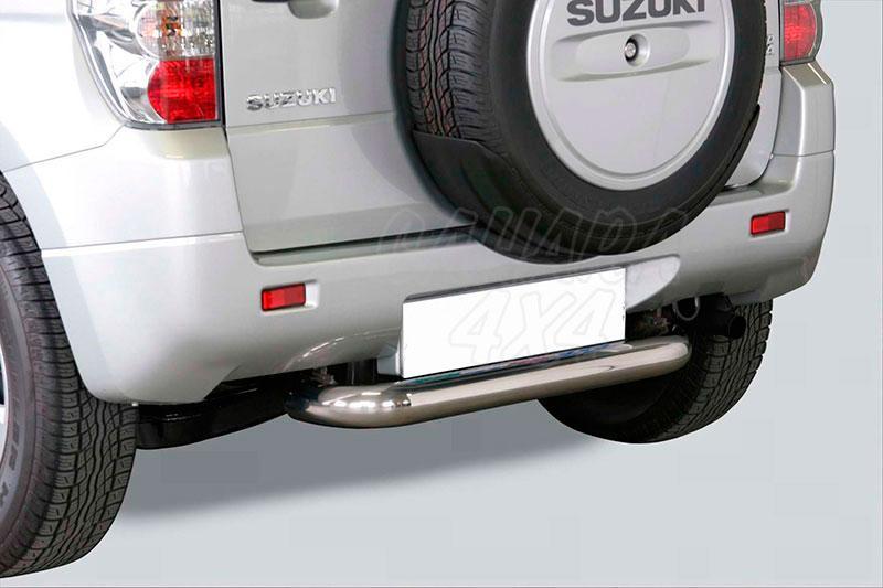 Protector de parachoques trasero en tubo inox Ø76mm para Suzuki Grand Vitara 2005-2008  - Para 3 puertas