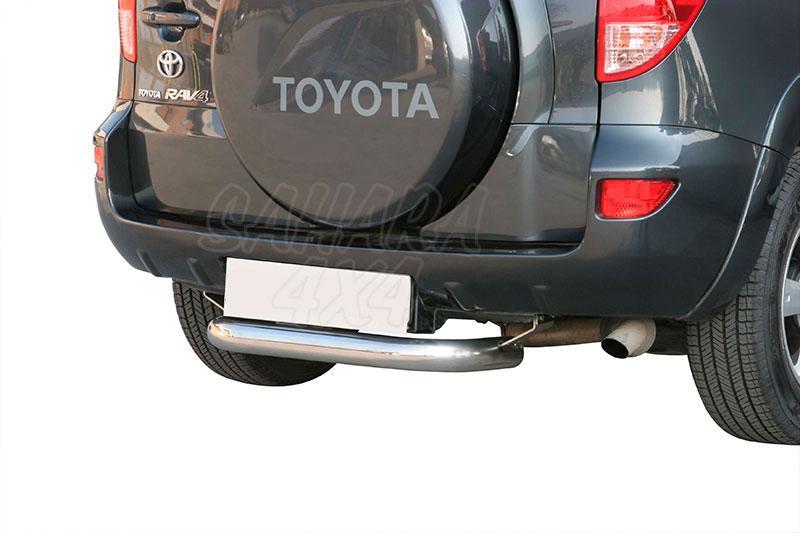 Protector de parachoques trasero en tubo inox Ø76mm para Toyota Rav4 2006-2009 -