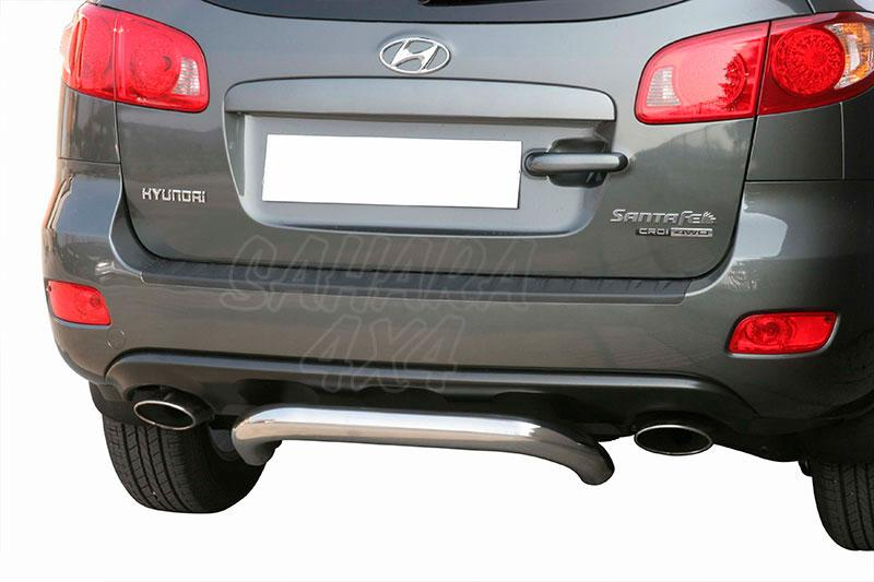 Protector de paragolpes trasero en tubo inox Ø76mm para Hyundai Santa Fe 2006-2010 -