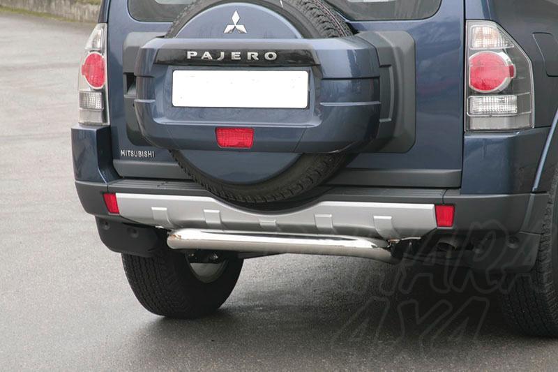 Protector de parachoques trasero en tubo inox Ø76mm para Mitsubishi Montero V80 2007- -