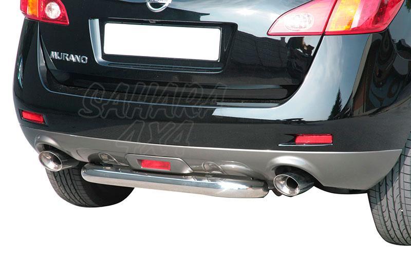 Protector de parachoques trasero en tubo inox Ø76mm para Nissan Murano 2008- -