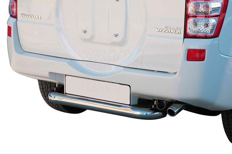Protector de parachoques trasero en tubo inox Ø76mm para Suzuki Grand Vitara 2008- - Para 5 puertas