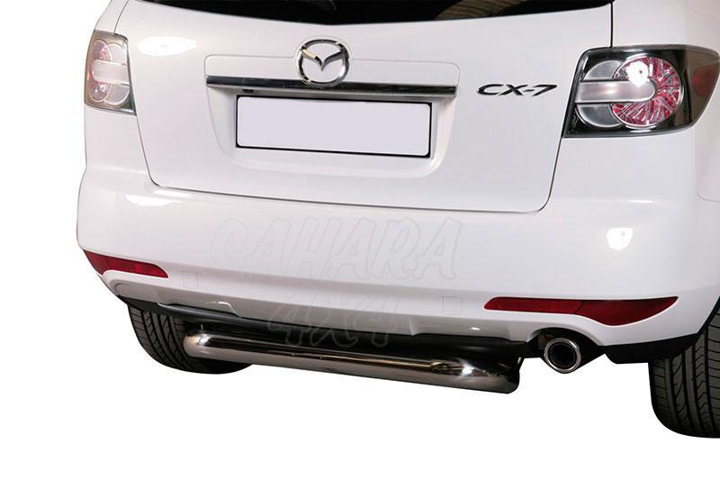 Protector de parachoques trasero en tubo inox Ø76mm para Mazda CX-7 2010- -