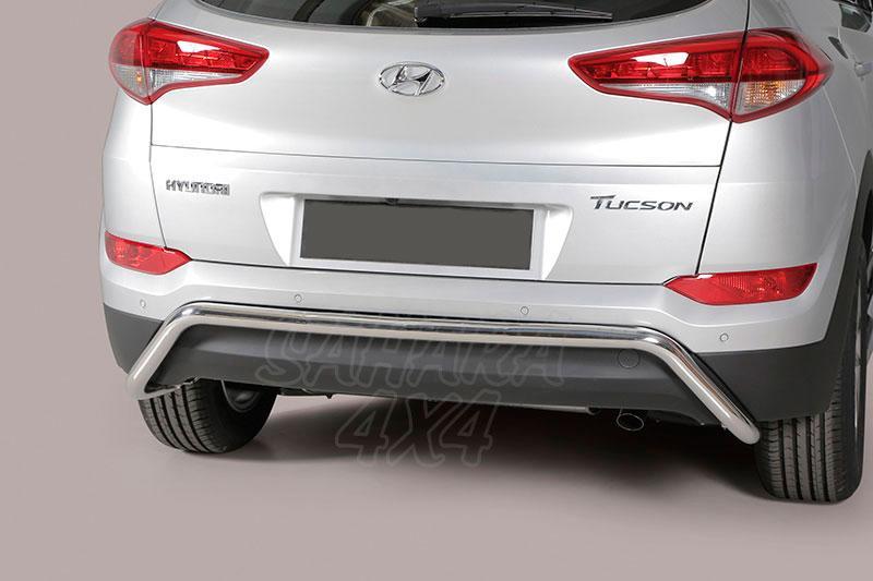 Protector de paragolpes trasero en tubo inox Ø50mm para Hyundai Tucson 2015- -