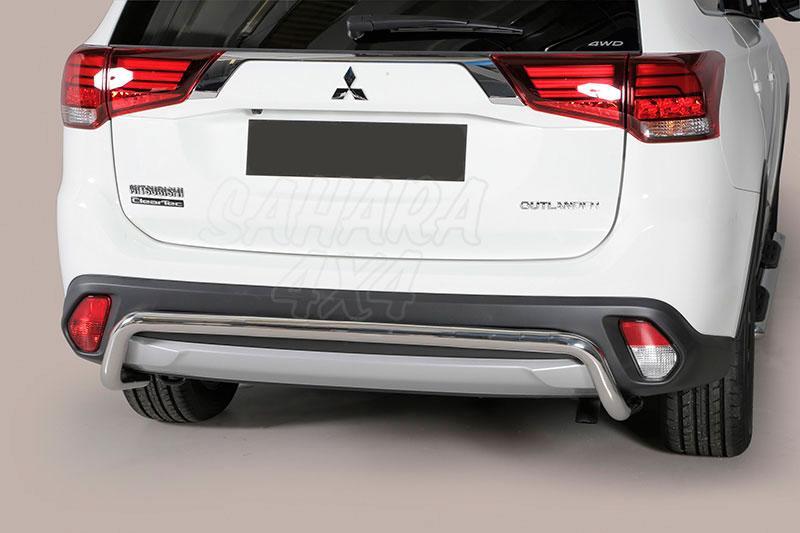Protector de parachoques trasero en tubo inox Ø50mm para Mitsubishi Outlander 2015- -