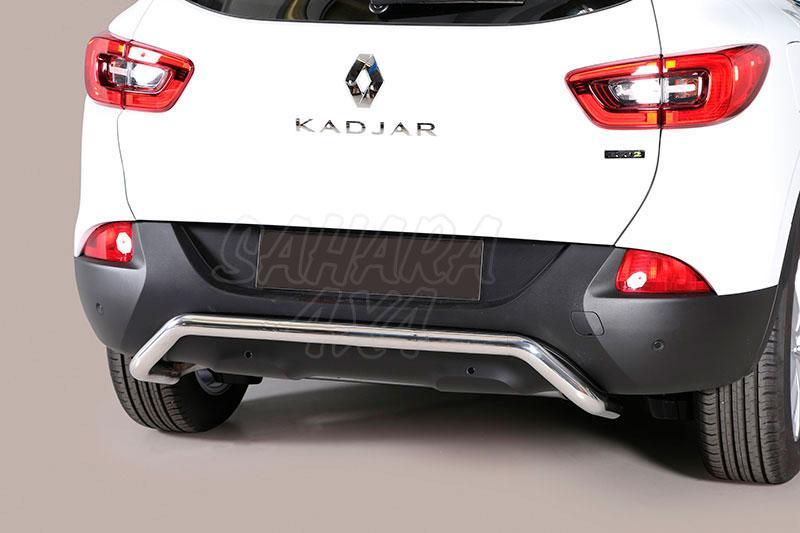 Protector de parachoques trasero en tubo inox Ø50mm para Renault Kadjar 2015- -
