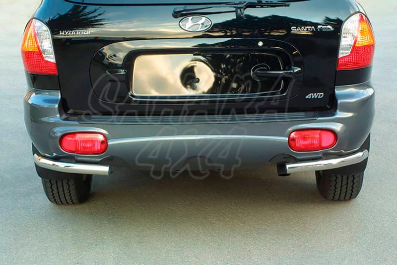 Protector inferior de esquinas traseras en tubo inox Ø50mm para Hyundai Santa Fe 2001-2006 -