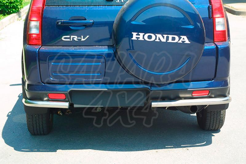 Protector inferior de esquinas traseras en tubo inox Ø50mm para Mitsubishi Montero V60 2000-2003 - (Imagen no contra actual)