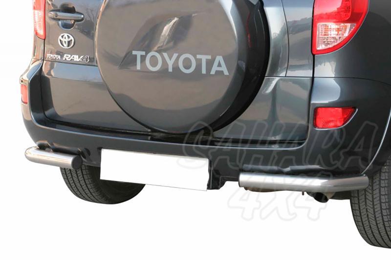 Protector inferior de esquinas traseras en tubo inox Ø63mm para Toyota Rav4 2006-2009 -