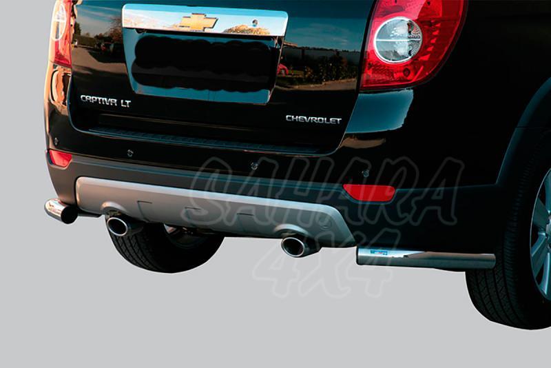 Protector inferior de esquinas traseras en tubo inox Ø63mm para Chevrolet Captiva 2006-2010 -