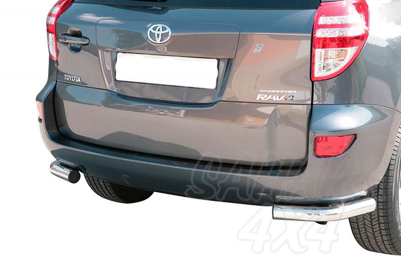 Protector inferior de esquinas traseras en tubo inox Ø63mm para Toyota Rav4 2009-2010 -
