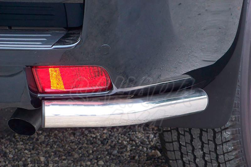 Protector inferior de esquinas traseras en tubo inox Ø63mm para Toyota LandCruiser 155  - Para 3 puertas. Sólo 2009-2014