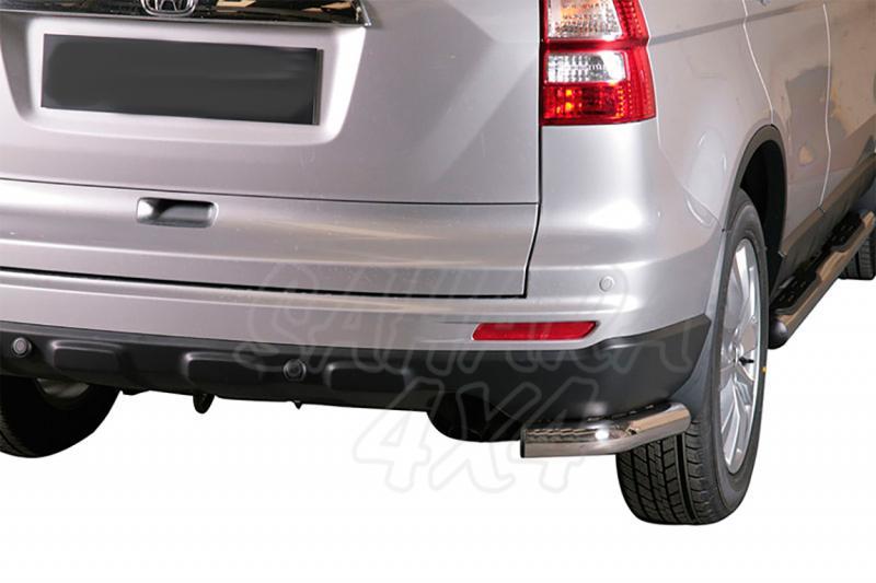 Protector inferior de esquinas traseras en tubo inox Ø63mm para Honda CR-V 2010- -