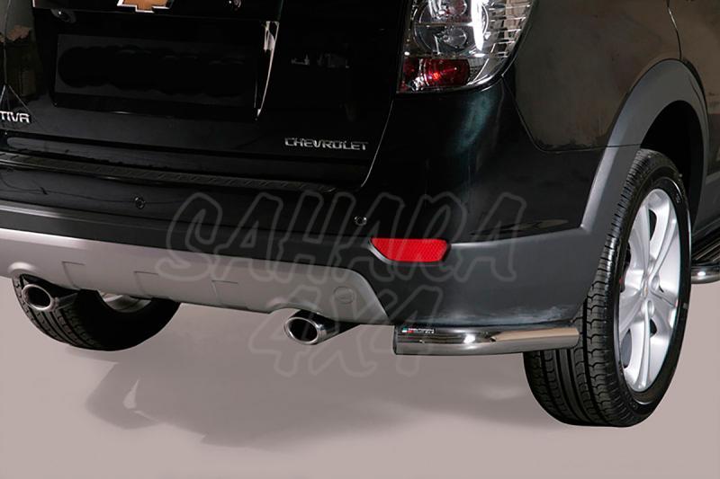 Protector inferior de esquinas traseras en tubo inox Ø63mm para Chevrolet Captiva 2011- -