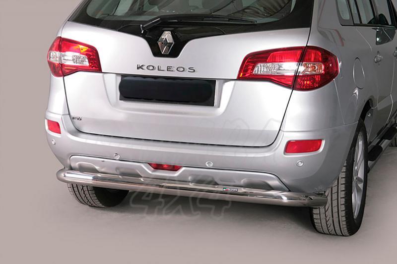 Protector de parachoques trasero en tubo inox Ø76mm para Renault Koleos 2008- -