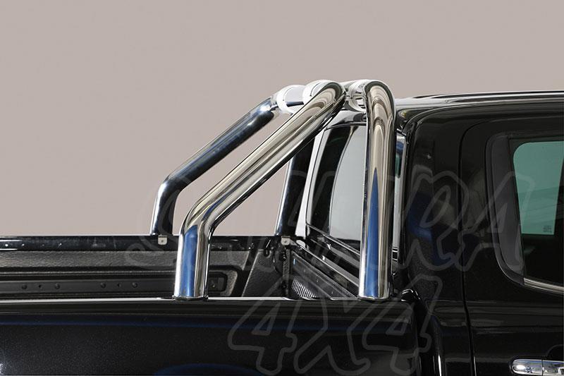 Rollbar en acero inox Ø76mm sin traviesa lateral. Tipo RLD para Toyota Hilux Revo 2016- -