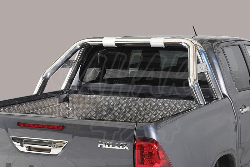 Rollbar en tubo inox Ø76mm con traviesa lateral. Tipo RLD para Toyota Hilux Revo 2016- -