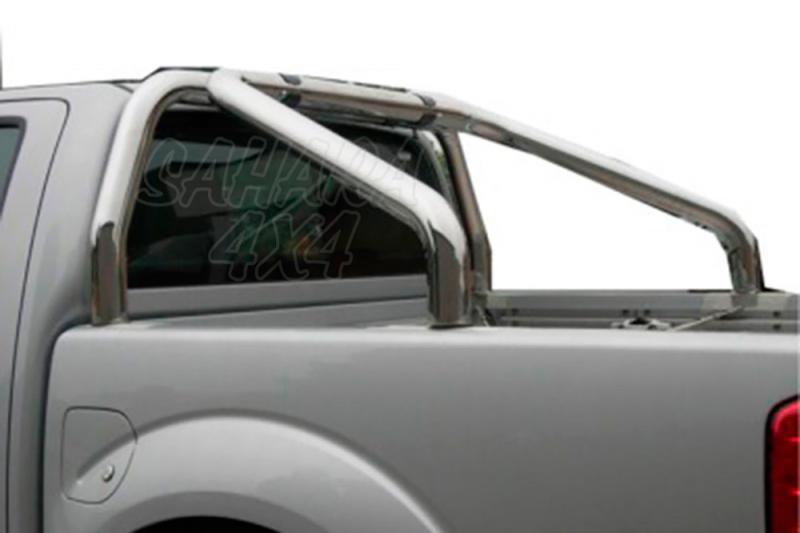Rollbar en acero inox 76mm para Nissan Navara D40 2010-2015 -