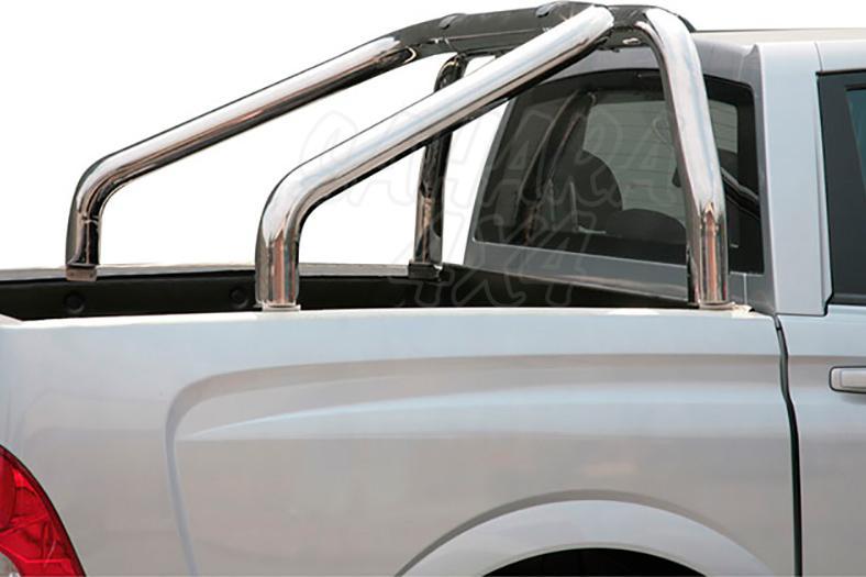Rollbar en acero inox 76mm para SSangyong Actyon Sports 2006-2011
