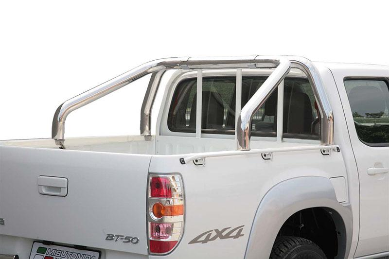 Rollbar en acero inox 76mm para Mazda BT-50 2009-2012 -