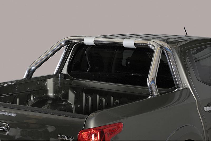 Rollbar en acero inox 76mm para Mitsubishi L-200 Triton 2015-/Fiat Fullback 2016-