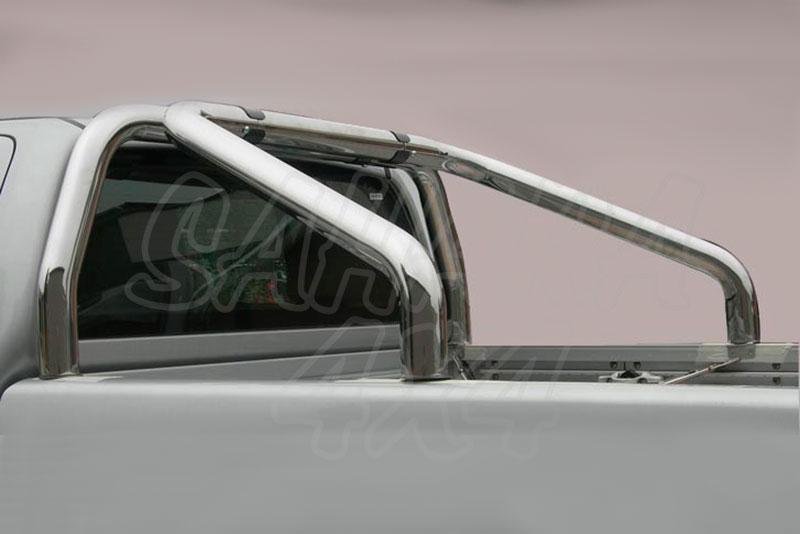 Rollbar en acero inox Ø76mm para Nissan Navara D23 - (no compatible con 3ª luz de freno)