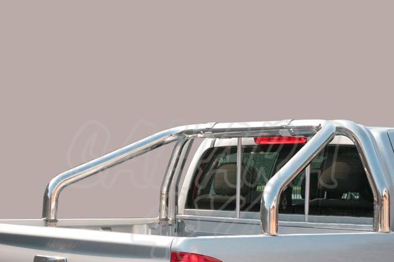 Rollbar en tubo inox Ø76mm sin traviesa lateral para Toyota Hilux Revo 2016- -