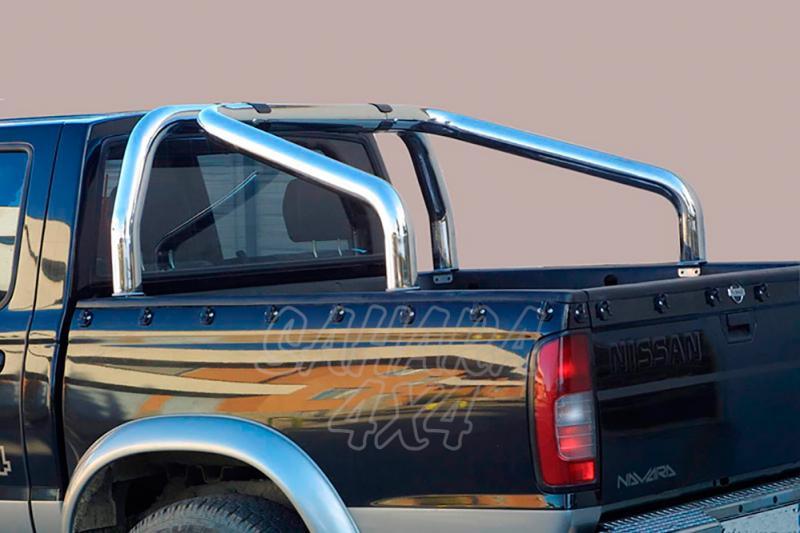 Rollbar en acero inox 76mm para Nissan Navara D-22 1998-2005 - Para (doble y simple cabina)
