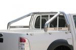 Rollbar en acero inox 76mm, con traviesa lateral para Ford Ranger 2009-2012 -