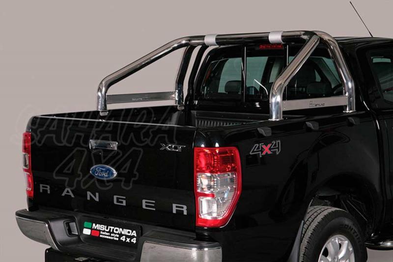 Rollbar en acero inox 76mm, con traviesa lateral para Ford Ranger 2012- -