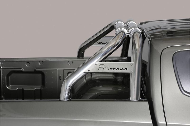 Rollbar en acero inox 76mm, con traviesa  para Mitsubishi L-200 Triton 2015-/Fiat Fullback 2016-