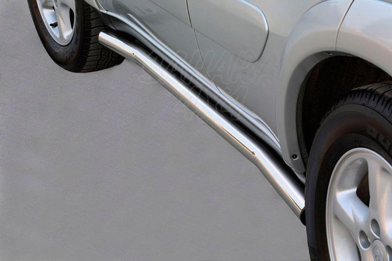 Estribos en tubo inox Ø63mm para Toyota Rav4 2000-2005 - Para 5 puertas