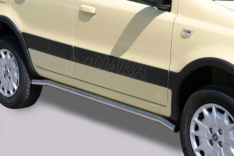 Estribos en tubo inox Ø50mm para Fiat Panda 4x4 2003-2012 -