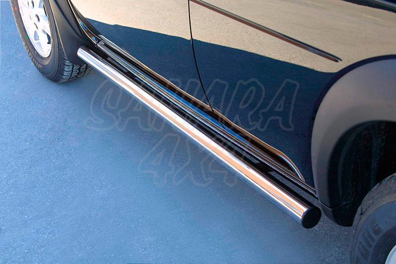 Estribos en tubo inox Ø50mm para Land Rover Freelander I 1998-2006 -