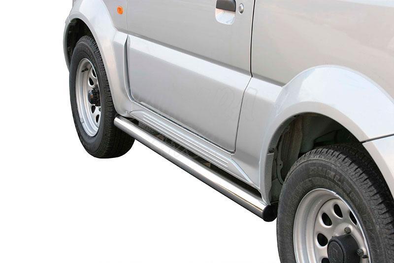Estribos en tubo inox Ø63mm para Suzuki Jimny 1998-2012 -
