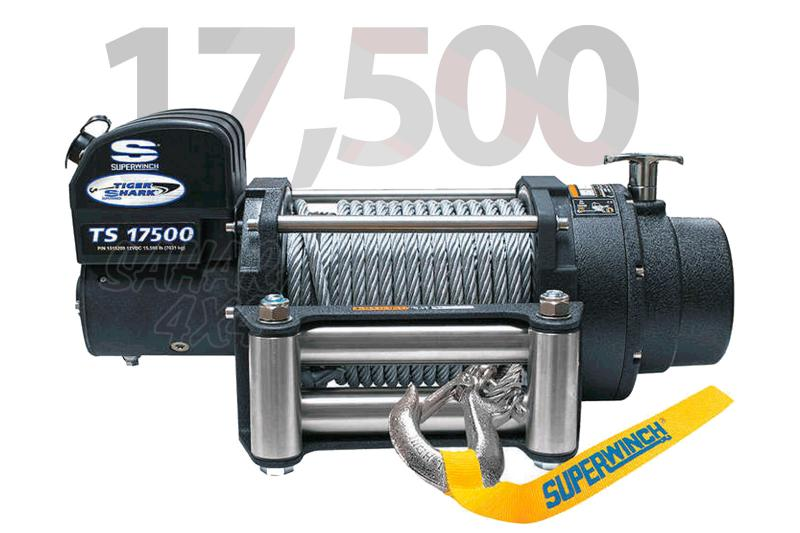 Superwinch Tiguer Shark 17.500lbs 7.938 Kg  - Cabrestante electrico a 12v o 24v.